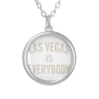 Las Vegas Vs Everybody Silver Plated Necklace