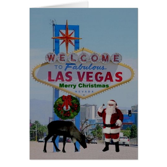"Las Vegas ""WE PUT YOUR FACE ON SANTA"" Card"