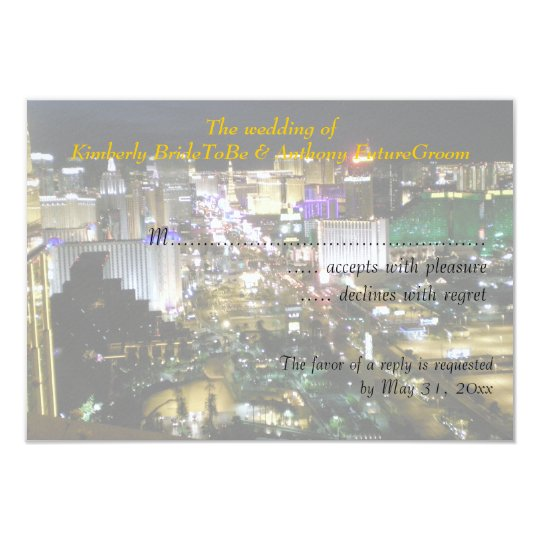 Las Vegas Wedding and Reception RSVP Card