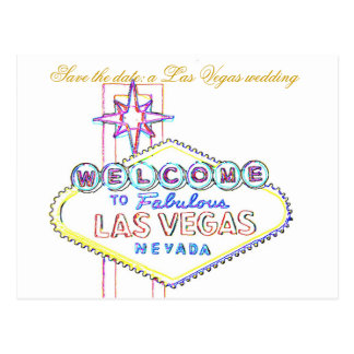 Las Vegas Wedding Announcements Postcard