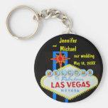Las Vegas Wedding Date Basic Round Button Key Ring