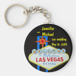 Las Vegas Wedding Date Key Ring