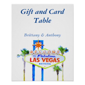 Las Vegas Wedding gift and card Reception Poster