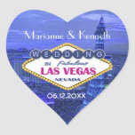 Las Vegas Wedding Heart Sticker