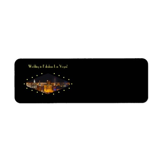Las Vegas Wedding Label Return Address Label