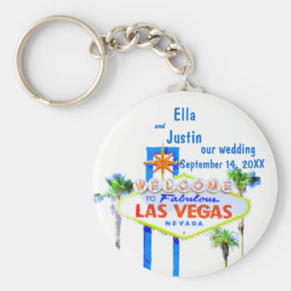 Las Vegas Wedding Memento Basic Round Button Key Ring