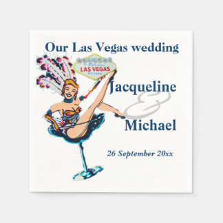 Las Vegas Wedding Party Disposable Serviette