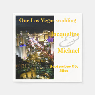 Las Vegas Wedding Receptions Paper Serviettes