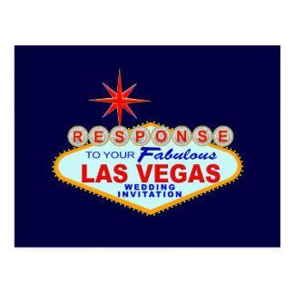 Las Vegas Wedding Response Card (Post Card) Postcard