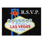 Las Vegas Wedding RSVP Guest Reply cards Custom Invitations