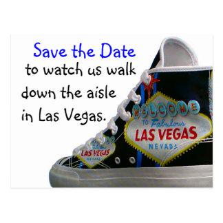 Las Vegas Wedding Save Date : walk down the aisle Postcard