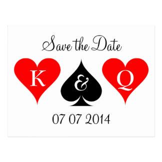 Las Vegas wedding save the date postcards