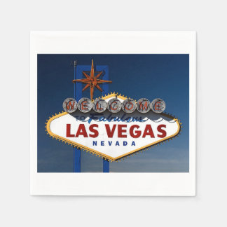 Las Vegas Wedding Sign Day Disposable Serviette