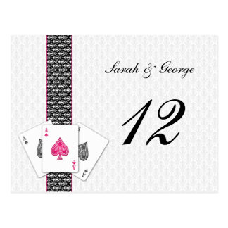 Las Vegas Wedding Table numbers Postcard