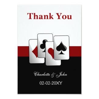 "Las Vegas Wedding Thank You cards 5"" X 7"" Invitation Card"