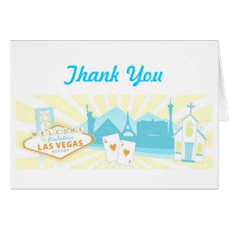 Las Vegas Wedding Thank You Cards - Pastel
