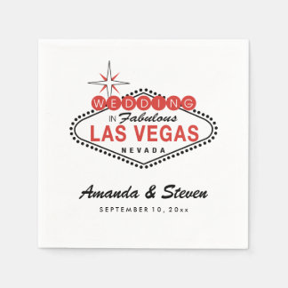 Las Vegas Wedding | Wedding Paper Napkins Disposable Serviette