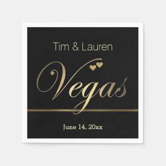 Las Vegas Wedding with hearts! Disposable Napkins