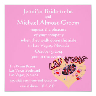 Las Vegas Weddings Pink Heart Card