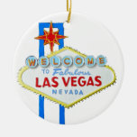 Las Vegas Welcome Sign Christmas Tree Ornament