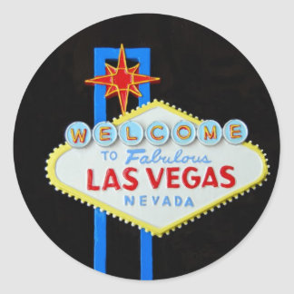 Las Vegas Welcome Sign Classic Round Sticker