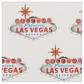 Las Vegas Welcome Sign Fabric