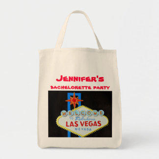 Las Vegas Welcome Sign Grocery Tote Bag
