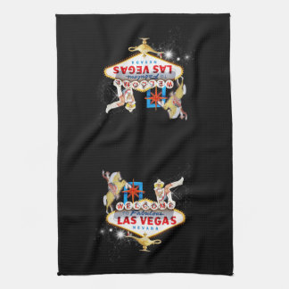 Las Vegas Welcome Sign Kitchen Towel