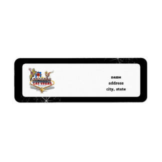 Las Vegas Welcome Sign On Starry Background Return Address Label