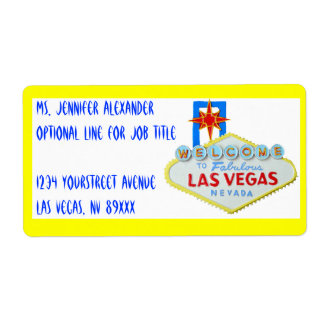 Las Vegas Welcome Sign Shipping Label
