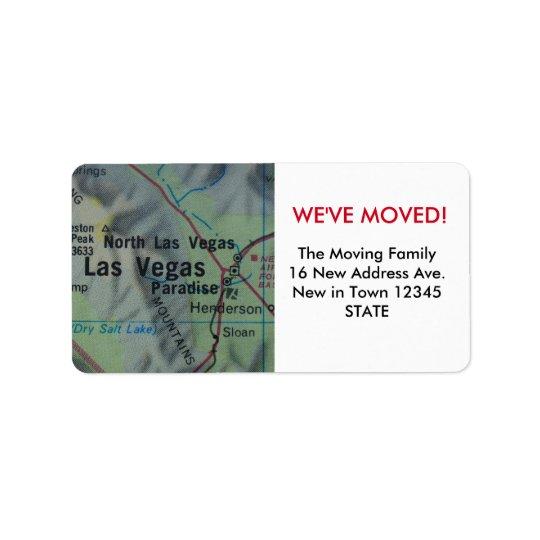 Las Vegas We've Moved label Address Label