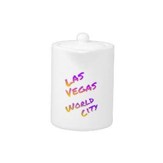 Las Vegas world city, colorful text art