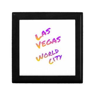 Las Vegas world city, colorful text art Gift Box