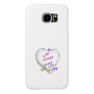 Las Vegas world city, Heart Samsung Galaxy S6 Cases