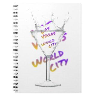 Las Vegas world city, Water Glass Notebooks