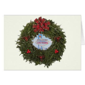 "Las Vegas Wreath ""Merry Christmas"" Card"