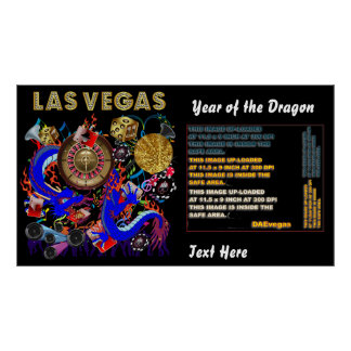 "Las Vegas Year of the Dragon 60"" X 34"" View Notes Poster"