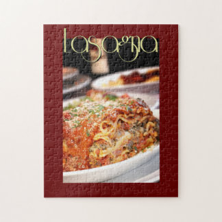 Lasagna Dinner at Italian Restaurant Jigsaw Puzzle
