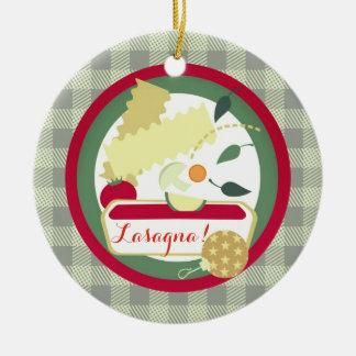 Lasagna Italian food Christmas tree ornament