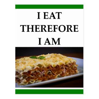 lasagna postcard