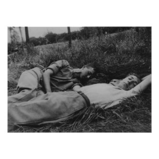 Lascivious young male couple napping gay interest poster