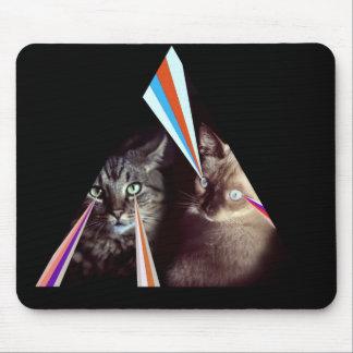 Laser cats mousepad