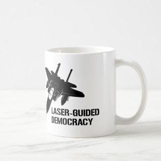 Laser-Guided Democracy / Peace through Firepower Coffee Mug