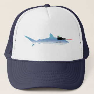 Laser Gun Fish Trucker Hat
