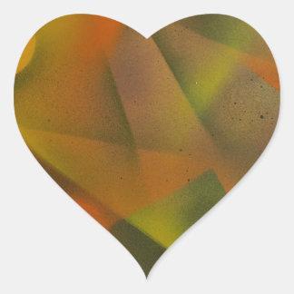 Laser Light show Heart Sticker
