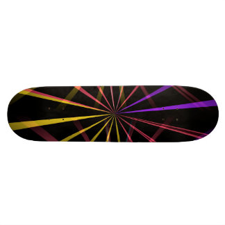Laser lights skate board