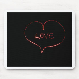 Laser love mouse pad