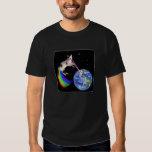 Laser Rainbow Space Cat Tee Shirt