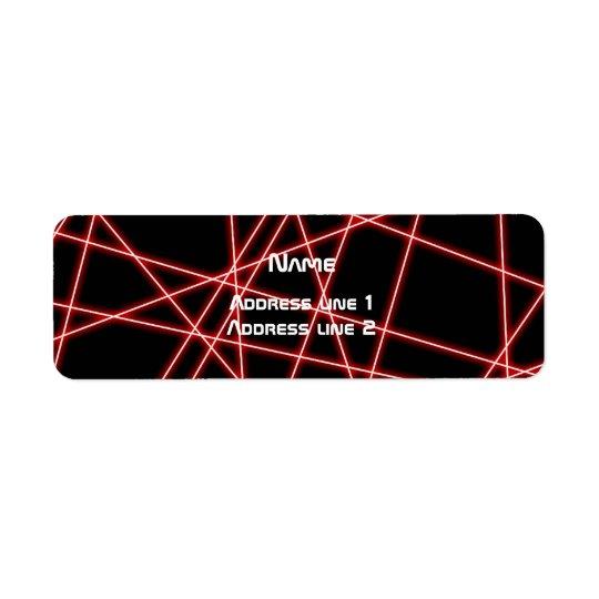 Laser Return Address Label