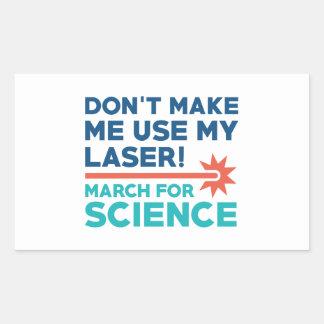 Laser Science March Rectangular Sticker